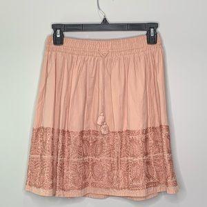 J Crew Drawstring Embroidered Zafrina Skirt